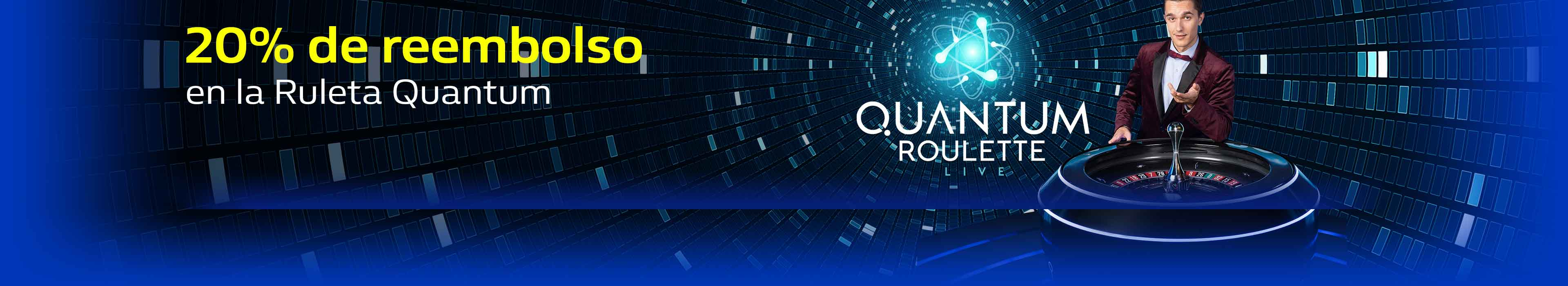 Juega a la Ruleta Quantum con 5 Golden Chips gratis.