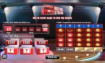 Deal or No Deal Red Box Streak