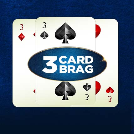 Play 3 Card Brag at Casino.com UK