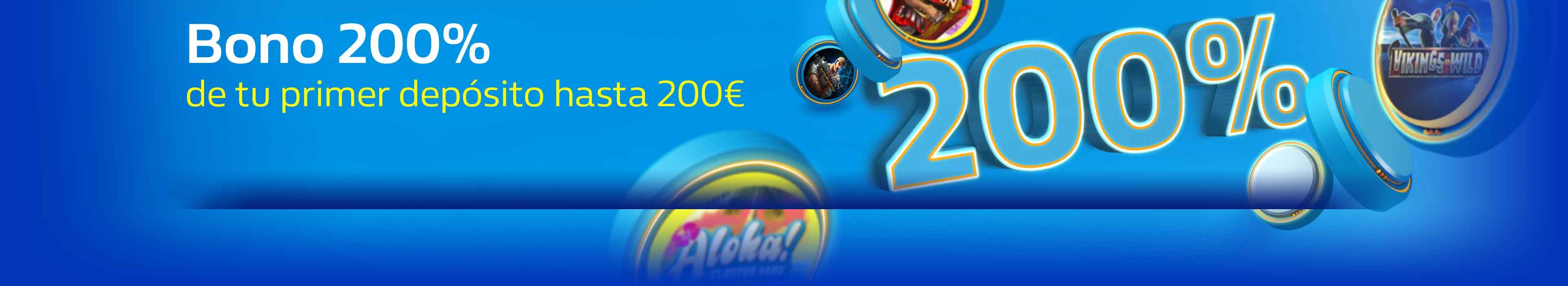 Bono de Bienvenida del 200% hasta 200€