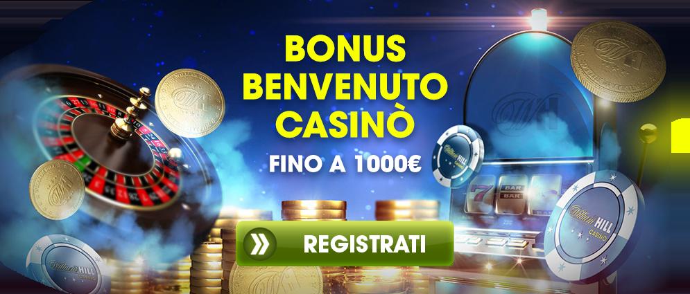 Bonus di Benvenuto Casinò fino a 1000€ - Registrati Ora