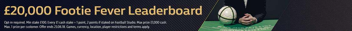 £20,000 Footie Fever Leaderboard